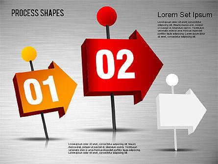 3D Process Shapes Toolbox, Slide 10, 01400, Process Diagrams — PoweredTemplate.com