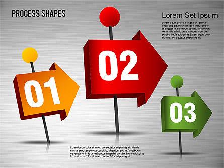 3D Process Shapes Toolbox, Slide 11, 01400, Process Diagrams — PoweredTemplate.com