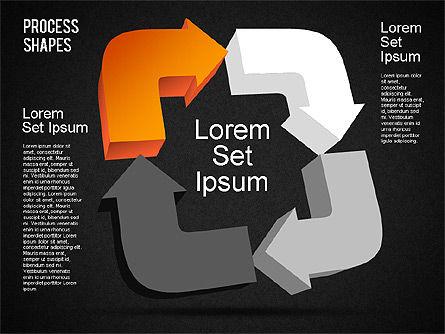 3D Process Shapes Toolbox, Slide 12, 01400, Process Diagrams — PoweredTemplate.com