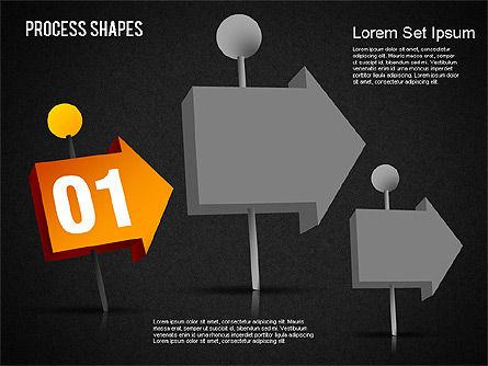 3D Process Shapes Toolbox, Slide 13, 01400, Process Diagrams — PoweredTemplate.com