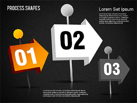3D Process Shapes Toolbox, Slide 14, 01400, Process Diagrams — PoweredTemplate.com