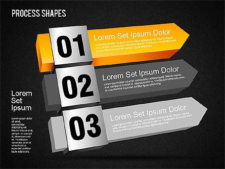 3D Process Shapes Toolbox, Slide 15, 01400, Process Diagrams — PoweredTemplate.com