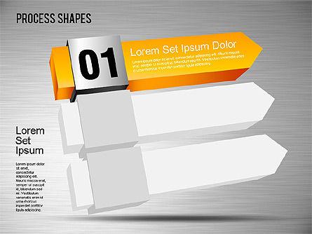 3D Process Shapes Toolbox, Slide 5, 01400, Process Diagrams — PoweredTemplate.com