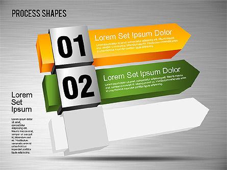 3D Process Shapes Toolbox, Slide 6, 01400, Process Diagrams — PoweredTemplate.com