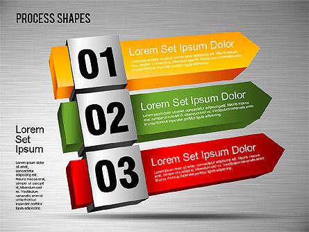 3D Process Shapes Toolbox, Slide 7, 01400, Process Diagrams — PoweredTemplate.com