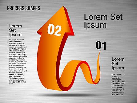 3D Process Shapes Toolbox, Slide 8, 01400, Process Diagrams — PoweredTemplate.com