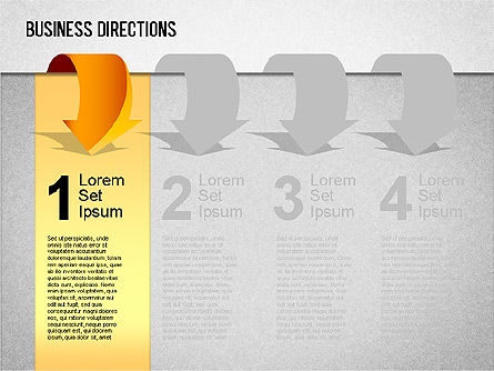 Business Directions Toolbox, Slide 4, 01401, Stage Diagrams — PoweredTemplate.com