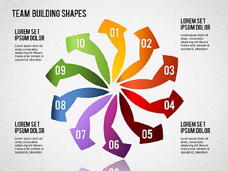 Business Models: Team Building Shapes #01403