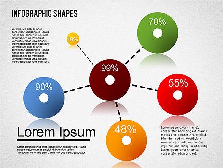 Infographics Shapes Set, Slide 7, 01404, Business Models — PoweredTemplate.com