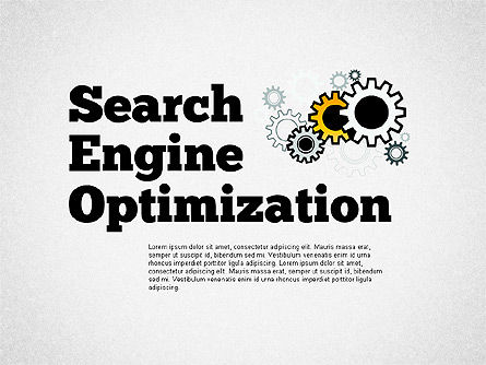 Presentation Templates: Search Engine Optimization Puzzle Diagram #01412