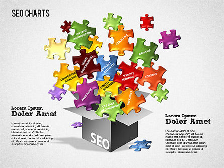 Search Engine Optimization Puzzle Diagram, Slide 2, 01412, Presentation Templates — PoweredTemplate.com