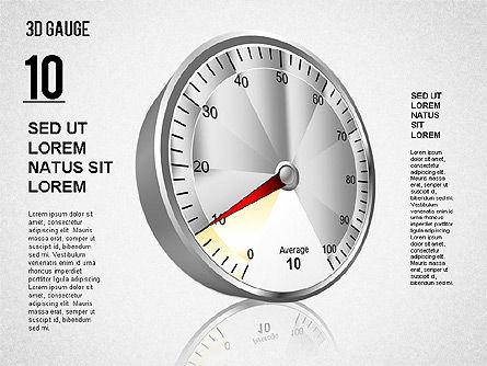 3D Gauge Stage Diagram, Slide 2, 01413, Stage Diagrams — PoweredTemplate.com