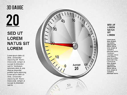 3D Gauge Stage Diagram, Slide 3, 01413, Stage Diagrams — PoweredTemplate.com