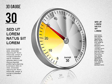 3D Gauge Stage Diagram, Slide 4, 01413, Stage Diagrams — PoweredTemplate.com
