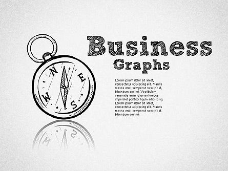 Sketch Style Business Shapes, 01414, Shapes — PoweredTemplate.com