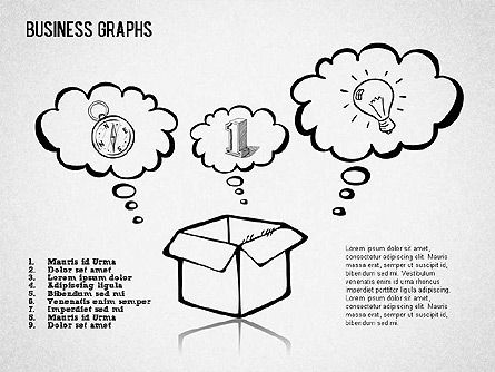 Sketch Style Business Shapes, Slide 3, 01414, Shapes — PoweredTemplate.com