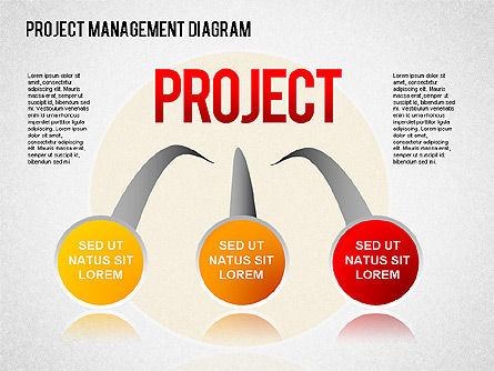 Project Management Diagram, 01415, Business Models — PoweredTemplate.com