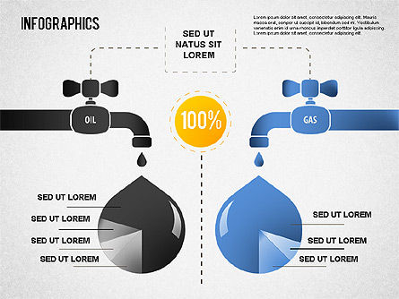 Oil and Gas Infographics, Slide 2, 01416, Infographics — PoweredTemplate.com