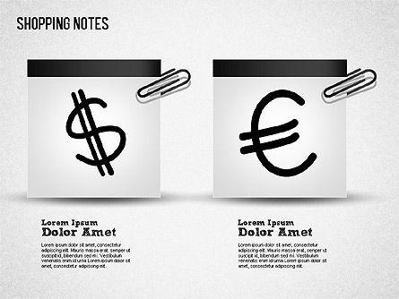 Shopping Notes, Slide 10, 01417, Shapes — PoweredTemplate.com