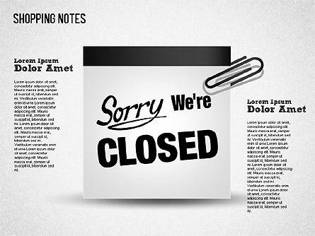 Shopping Notes, Slide 11, 01417, Shapes — PoweredTemplate.com