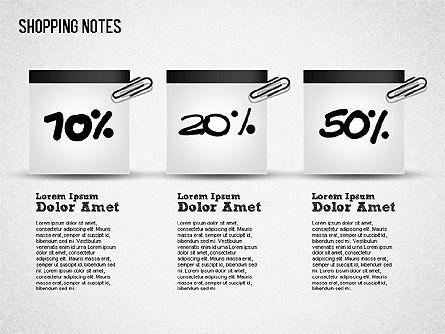 Shopping Notes, Slide 12, 01417, Shapes — PoweredTemplate.com