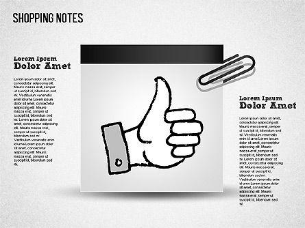Shopping Notes, Slide 13, 01417, Shapes — PoweredTemplate.com