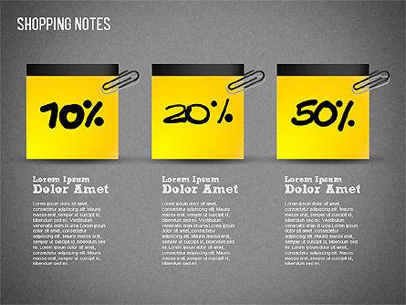 Shopping Notes, Slide 14, 01417, Shapes — PoweredTemplate.com
