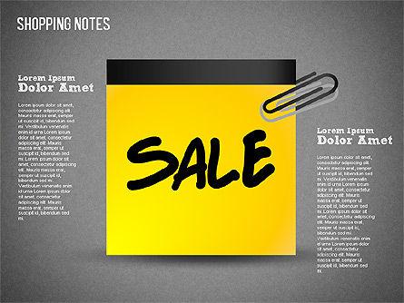 Shopping Notes, Slide 16, 01417, Shapes — PoweredTemplate.com