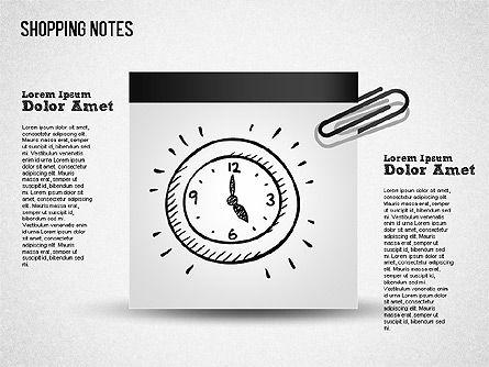 Shopping Notes, Slide 2, 01417, Shapes — PoweredTemplate.com