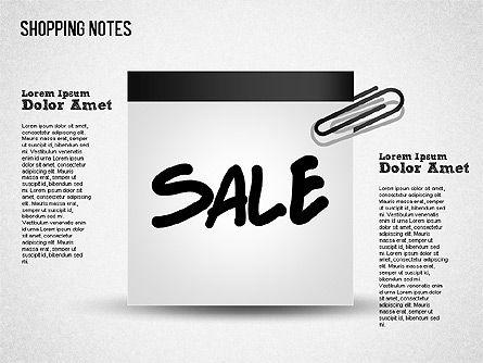 Shopping Notes, Slide 3, 01417, Shapes — PoweredTemplate.com