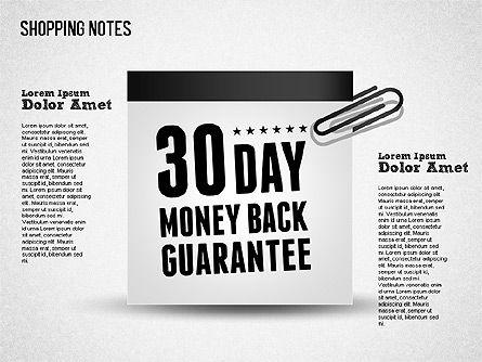Shopping Notes, Slide 4, 01417, Shapes — PoweredTemplate.com