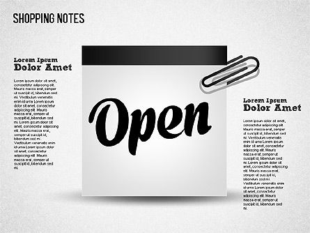 Shopping Notes, Slide 5, 01417, Shapes — PoweredTemplate.com