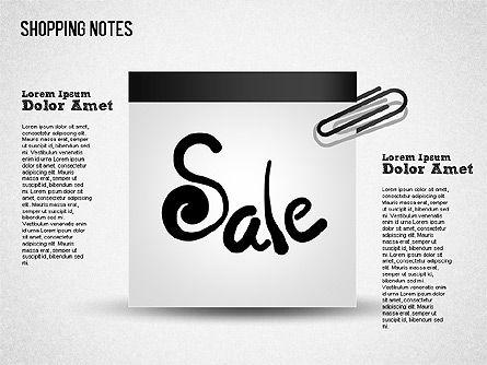 Shopping Notes, Slide 6, 01417, Shapes — PoweredTemplate.com