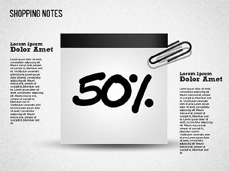 Shopping Notes, Slide 7, 01417, Shapes — PoweredTemplate.com