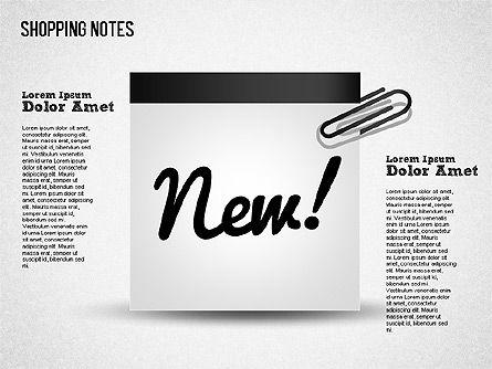 Shopping Notes, Slide 8, 01417, Shapes — PoweredTemplate.com