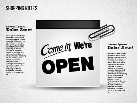 Shopping Notes, Slide 9, 01417, Shapes — PoweredTemplate.com