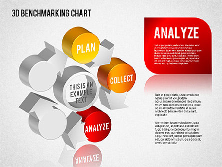 3D Benchmarking Chart, Slide 3, 01418, Business Models — PoweredTemplate.com