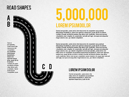 Road Shapes, Slide 4, 01419, Shapes — PoweredTemplate.com