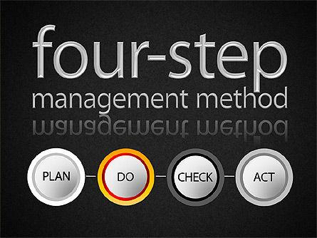 Four-Step Management Method, Slide 12, 01421, Business Models — PoweredTemplate.com
