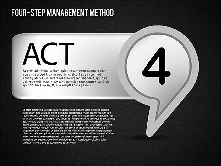 Four-Step Management Method, Slide 16, 01421, Business Models — PoweredTemplate.com