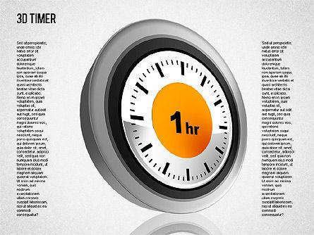 3D Timer Diagram, Slide 10, 01422, Stage Diagrams — PoweredTemplate.com