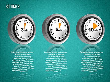 3D Timer Diagram, Slide 11, 01422, Stage Diagrams — PoweredTemplate.com