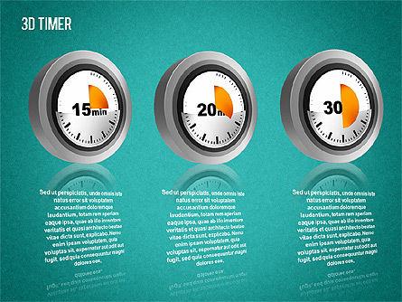 3D Timer Diagram, Slide 12, 01422, Stage Diagrams — PoweredTemplate.com