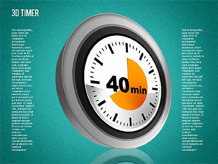 3D Timer Diagram, Slide 13, 01422, Stage Diagrams — PoweredTemplate.com