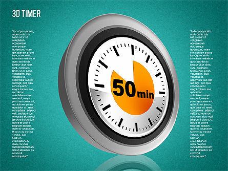 3D Timer Diagram, Slide 15, 01422, Stage Diagrams — PoweredTemplate.com