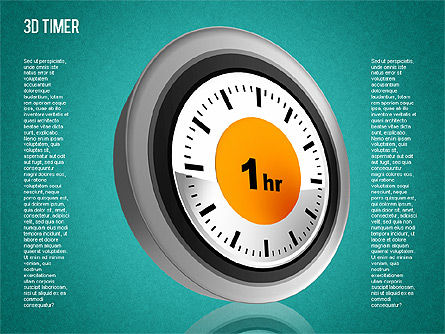 3D Timer Diagram, Slide 16, 01422, Stage Diagrams — PoweredTemplate.com
