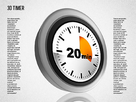3D Timer Diagram, Slide 5, 01422, Stage Diagrams — PoweredTemplate.com