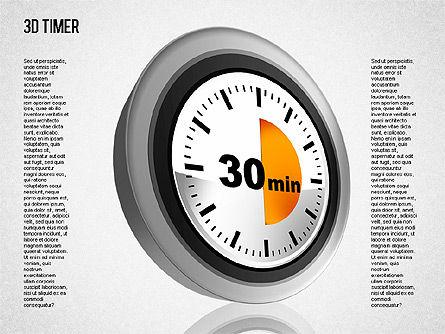 3D Timer Diagram, Slide 6, 01422, Stage Diagrams — PoweredTemplate.com