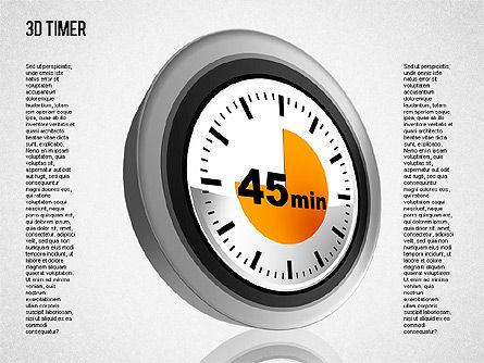 3D Timer Diagram, Slide 8, 01422, Stage Diagrams — PoweredTemplate.com