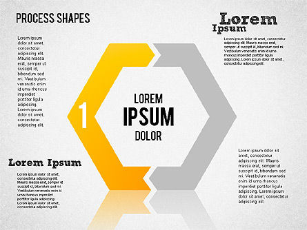 Process Geometric Shapes Toolbox, Slide 2, 01423, Process Diagrams — PoweredTemplate.com